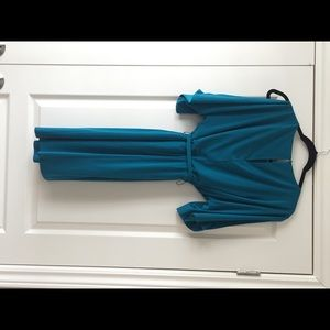 Blue  belted women dress(brand new)no tags